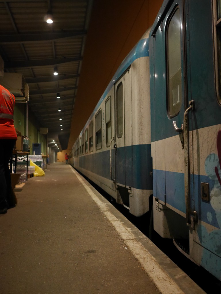 Refugees were sleeping in crowded trains