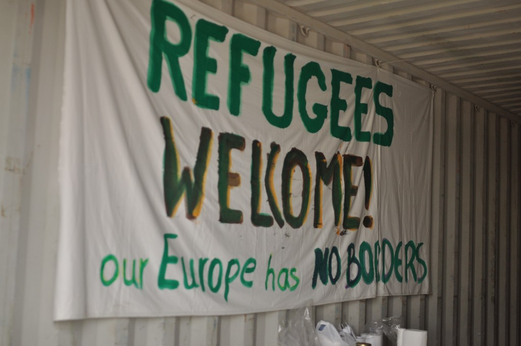 Volunteers from a collective based in Thessaloniki have set up a storage in a container