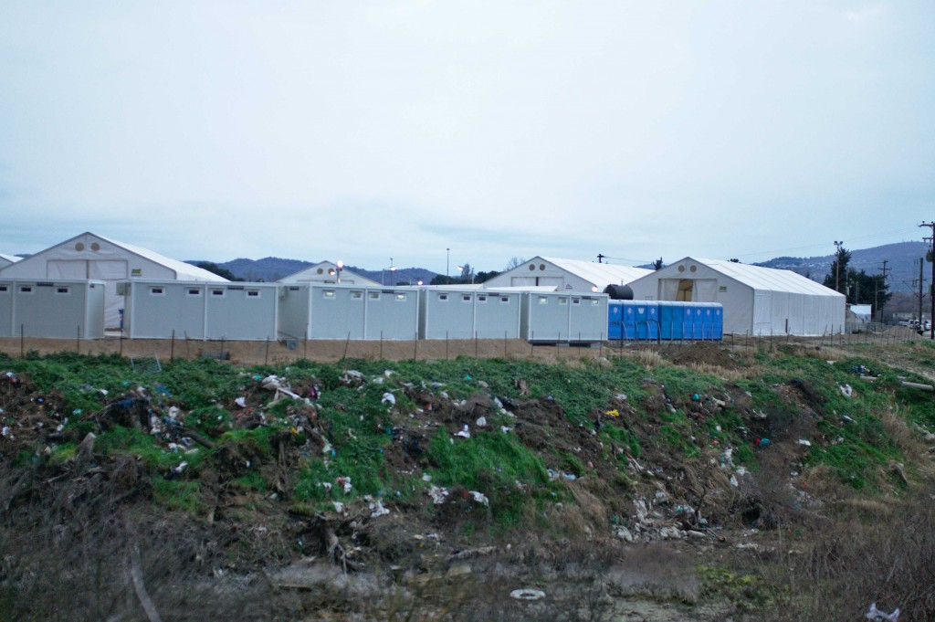 The closed refugee camp